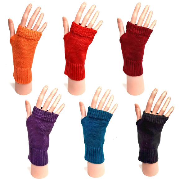 Knitted Fingerless Gloves Unisex