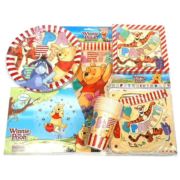 Winnie The Pooh Party Pack for 8 Children