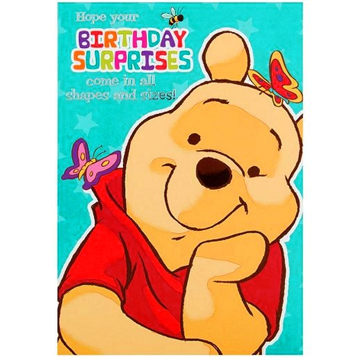 Winnie the Pooh Birthday Surprise Greetings Card