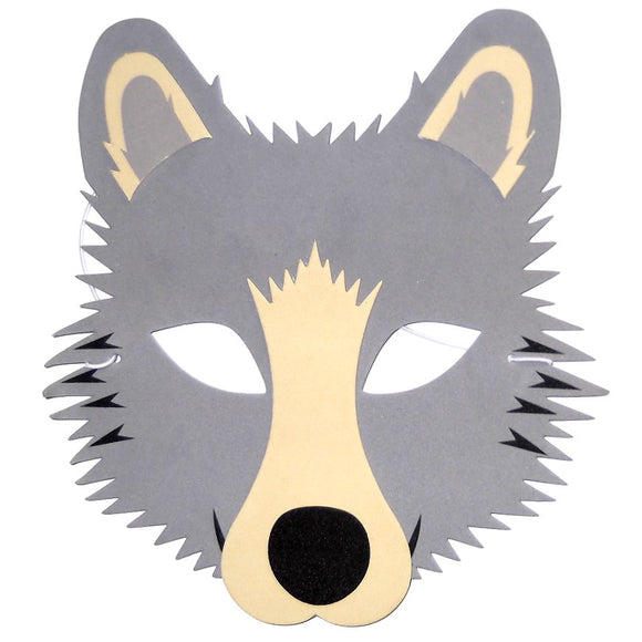 Children's Wolf Face Mask for Fancy Dress