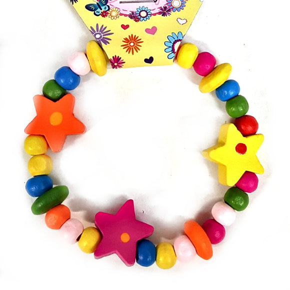 Wooden Bracelet Pocket Money Toy Party Bag Filler Favor