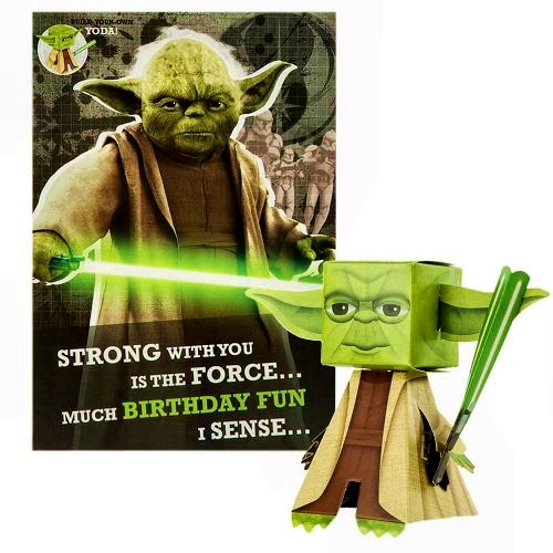 Star Wars Yoda Hallmark Birthday Card