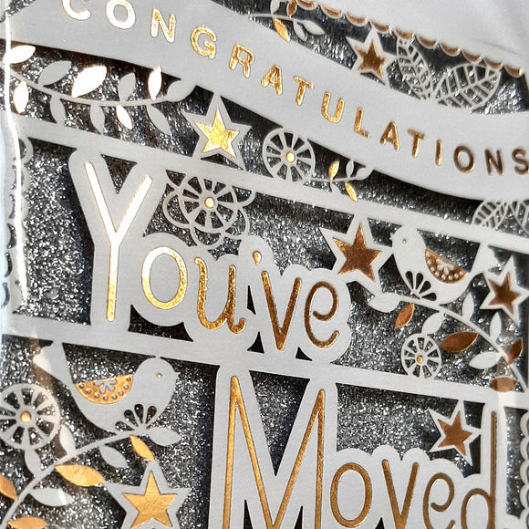 Congratulations You've Moved Card - Hallmark New Home Card & Envelope 3D