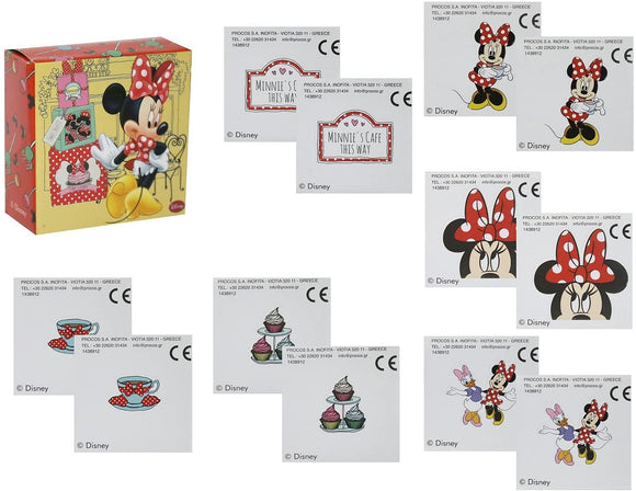 Minnie Mouse Activity Packs  This Set of 4 activity Packs contains  4 Pencils, 4 Activity Booklets, 4 Sticker Sheets and 4 Boxes containing 12 stickers     Perfect party Bag Filler Favours for a Minnie Mouse Themed Party