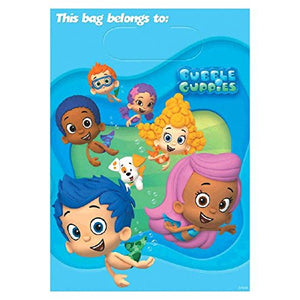 Bubble Guppies Party Favour Loot Bags Pack of 6