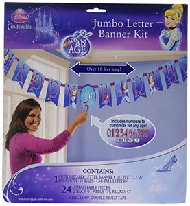 Cinderella Jumbo Letter Banner Kit - Add An Age