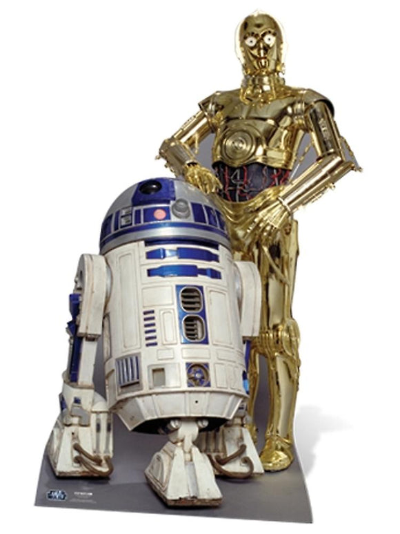 The Droids (R2-D2) C3P-O Star Wars Cutout