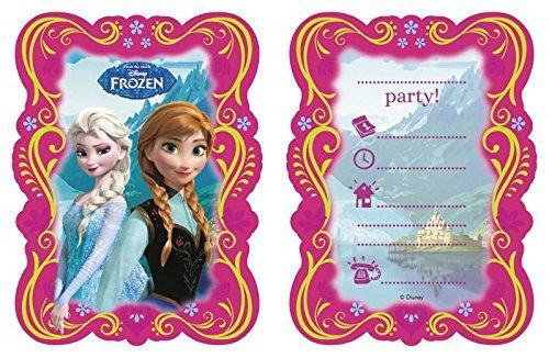 Disney Frozen 6 Party Invites