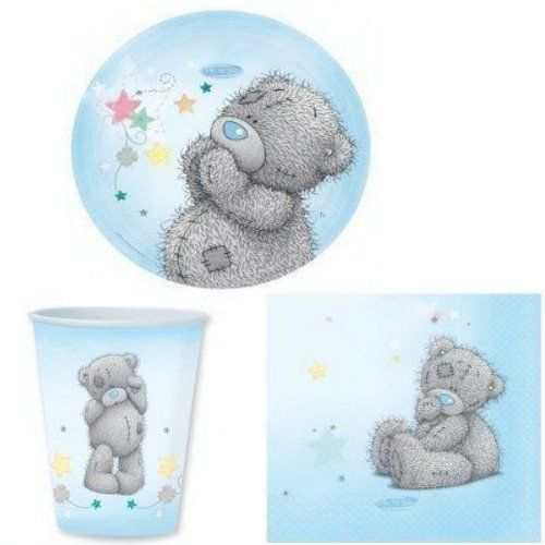 Me To You  Cute Teddy Bear Tableware Set for 30 People - Teddy Party Pack - Birthday Baby Shower