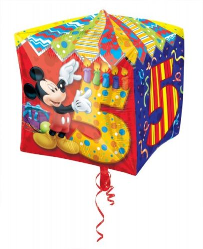 Disney Mickey Mouse 5th Birthday Cubez Foil Balloon, helium not included