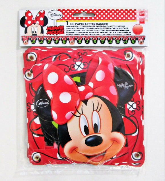 Minnie Mouse Fashion Happy Birthday Jointed Banner