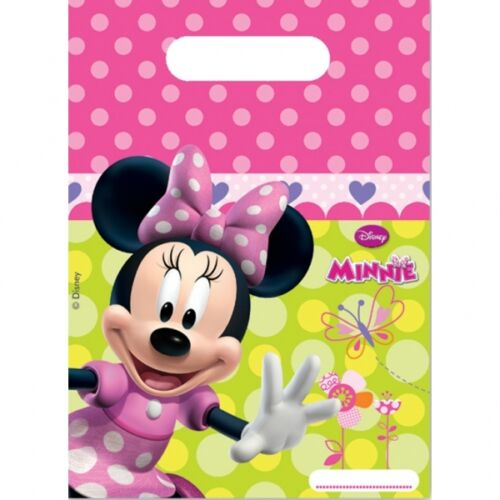 Pack of 30 Minnie Mouse Party Favour Treat Loot  Bags