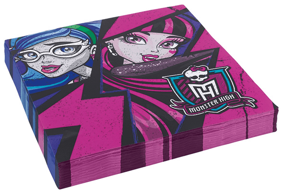 Disney Monster High Pack 20 Paper Napkins