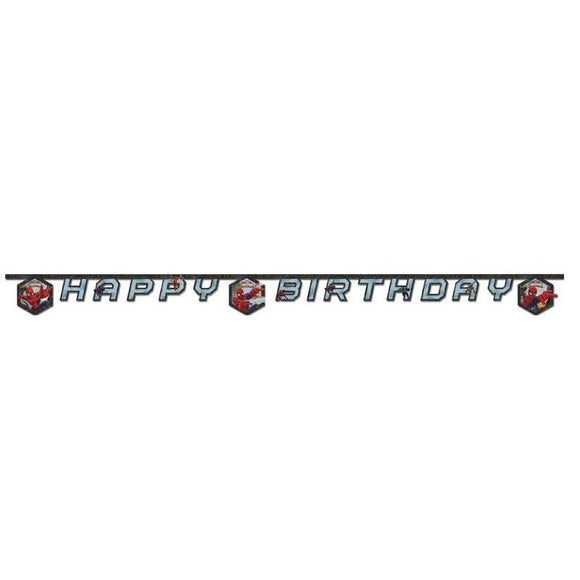 Spider Man Happy Birthday Card Letter Banner - Marvel - Party - Super Hero