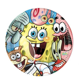 Pack of 8 SpongeBob Square Pants Disposable Paper Plates