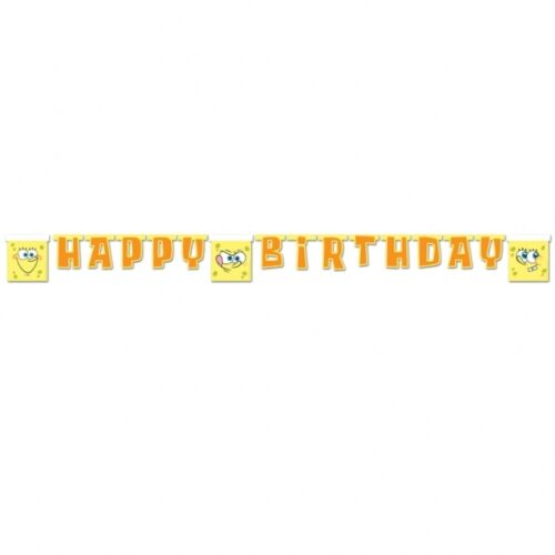SpongeBob Square Pants Happy Birthday Paper Letter Banner
