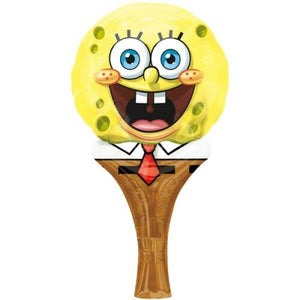 A Sponge Bob Squarepants Inflate a Fun Balloon Party Favour  Each Hand Held Ballon measures 15 cm x 30 cm when inflated.   Simply Fills with air, no helium required