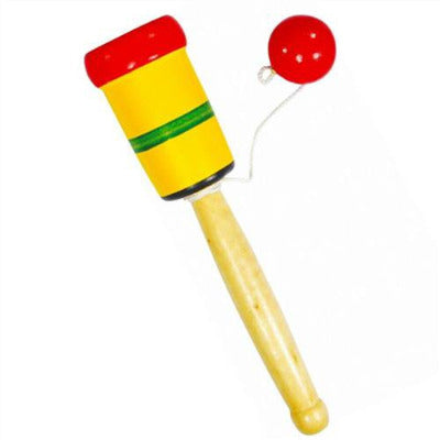 Wooden Cup and Ball Traditional Pocket Money Toy
