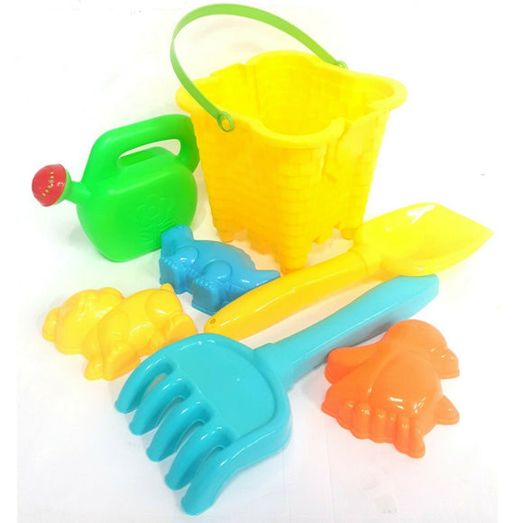 Yellow Bucket and Spade Sand Pit and Beach Set
