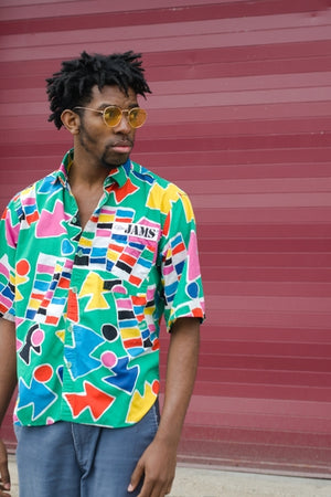 Vibrant Vibe Button Up