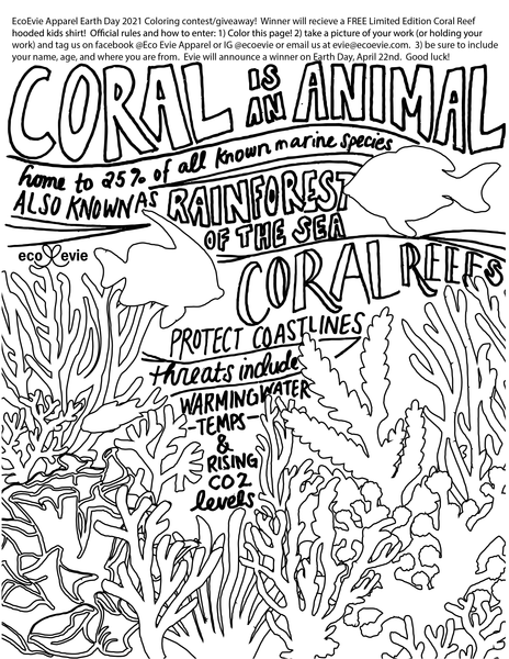 coral reef coloring contest earth day giveaway
