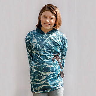LIMITED EDITION-  Sea Turtle Long sleeve hooded shirt