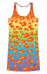 Amur Leopard Rainbow tank dress