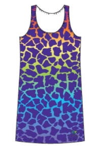 Giraffe Rainbow tank dress
