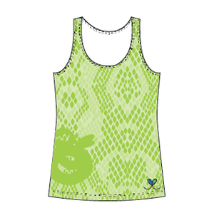 Eastern Indigo Snake Bright Lime tank top