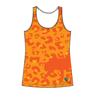 Amur Leopard Bright Orange tank top