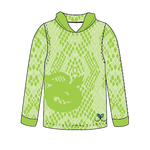 Eastern Indigo Snake Bright Lime long sleeve hooded shirt