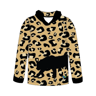 Amur Leopard All Natural long sleeve hooded shirt