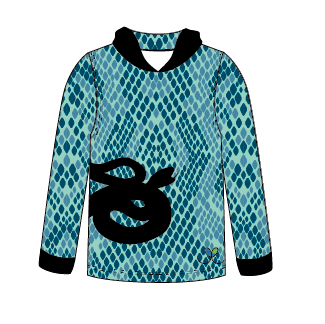 Eastern Indigo Snake All Natural long sleeve hooded shirt