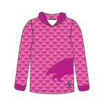 Pangolin Bright Pink long sleeve hooded shirt