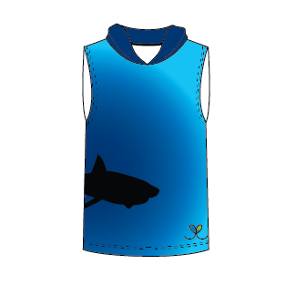 LIMITED EDITION- Great White Shark Sleeveless hooded shirt