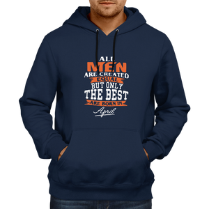 All men are created equal April - Navy Blue Hoodie