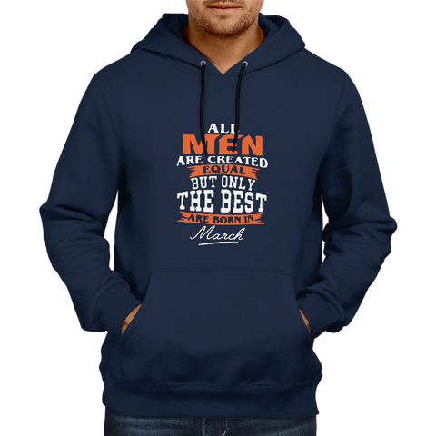All men are created equal March - Navy Blue Hoodie