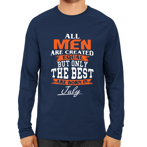 All men are created equal July -Full Sleeve Navy Blue