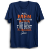 Image of All men are created equal June -Half Sleeve Navy Blue