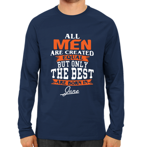 All men are created equal June -Full Sleeve Navy Blue