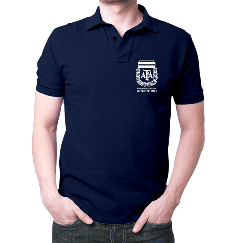 Argentina Logo- Polo T-shirt Navy Blue