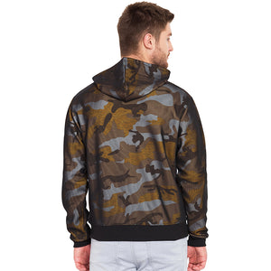 Men's Army Pattern camouflage Green Hoodie