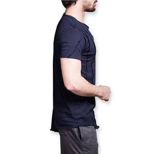 Men's Two Chest Zipper Slim Fit T-shirt