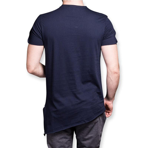 Image of Men's Two Chest Zipper Slim Fit T-shirt