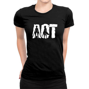 Attack On Titan -Women's Half Sleeve Black