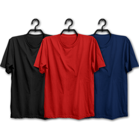 BRN Combo Half Sleeve Tshirts(Pack of 3)