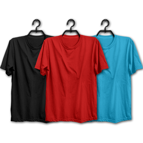 BRS Combo Half Sleeve Tshirts(Pack of 3)