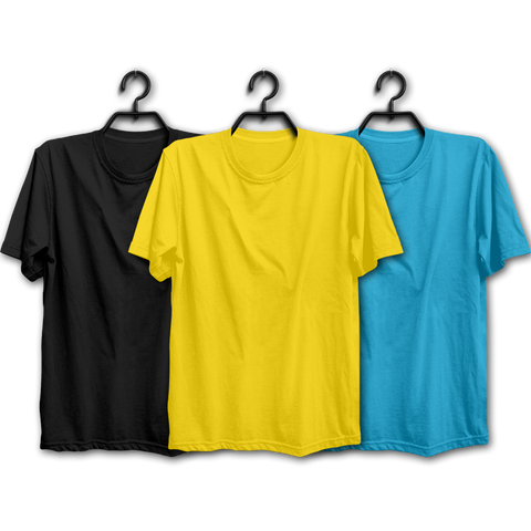 BYS Combo Half Sleeve T-shirts(Pack of 3)