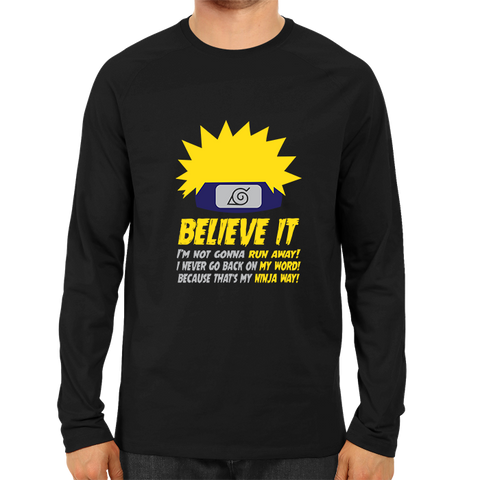Image of Believe It Full Sleeve Black