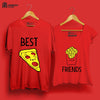Image of Best Friends -Half Sleeve Red